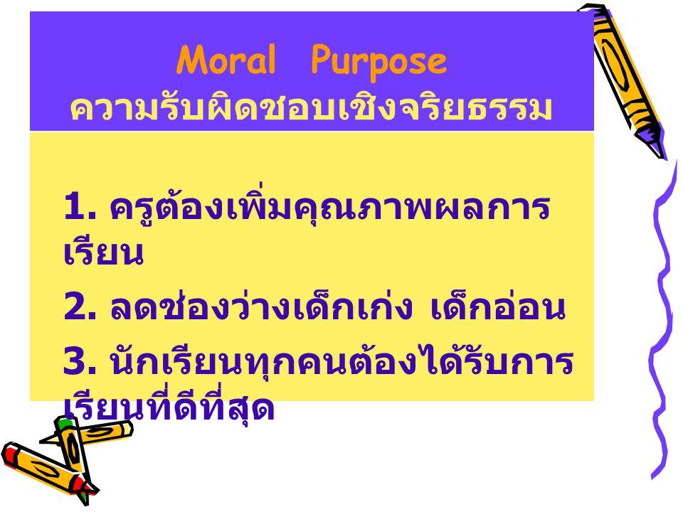 Moral Purpose ความรับผิดชอบเชิงจริยธรรม