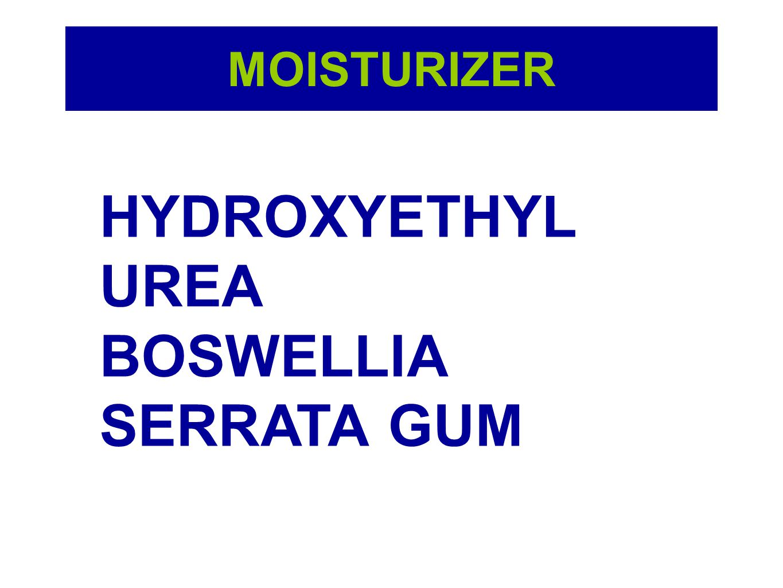 MOISTURIZER HYDROXYETHYL UREA BOSWELLIA SERRATA GUM