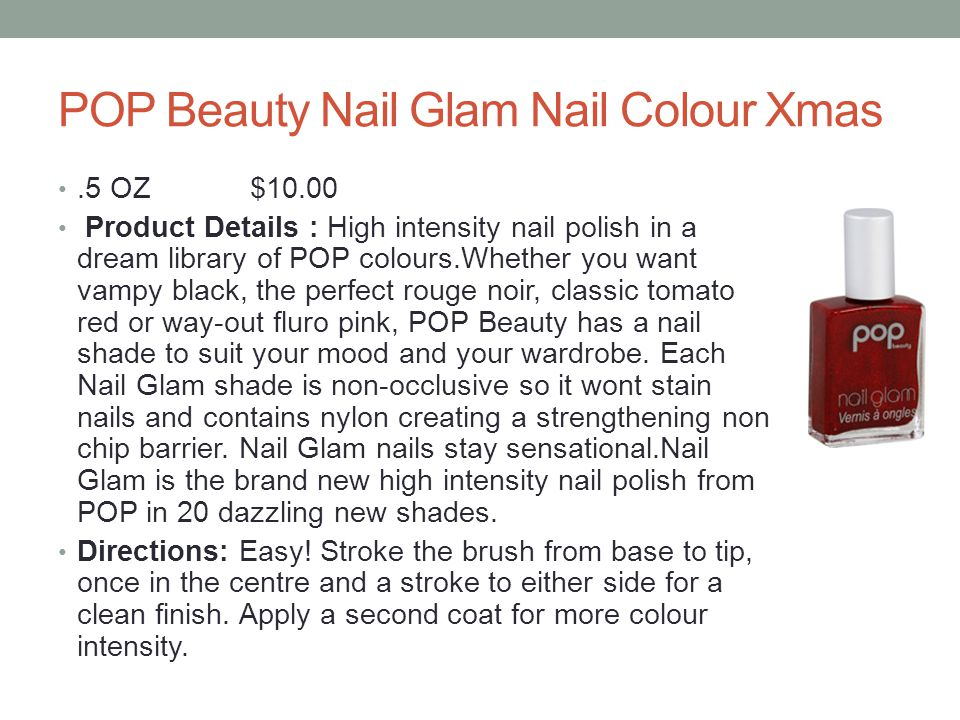 POP Beauty Nail Glam Nail Colour Xmas
