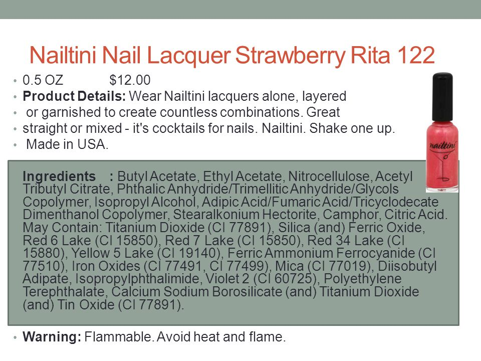 Nailtini Nail Lacquer Strawberry Rita 122
