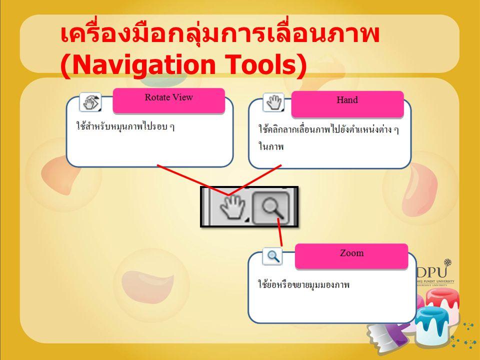 เครื่องมือกลุ่มการเลื่อนภาพ (Navigation Tools)