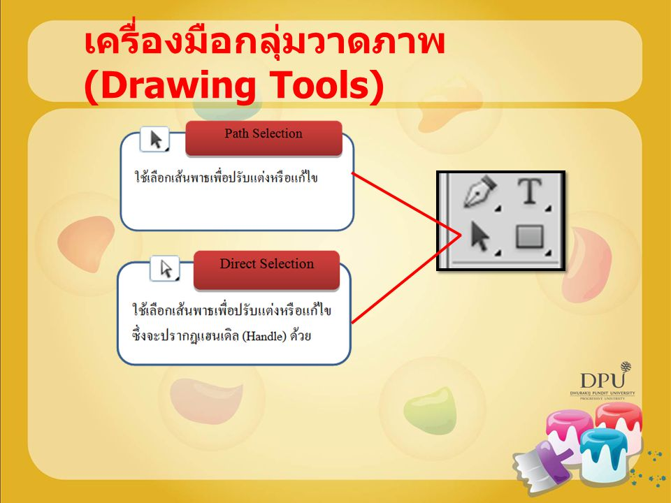 เครื่องมือกลุ่มวาดภาพ (Drawing Tools)