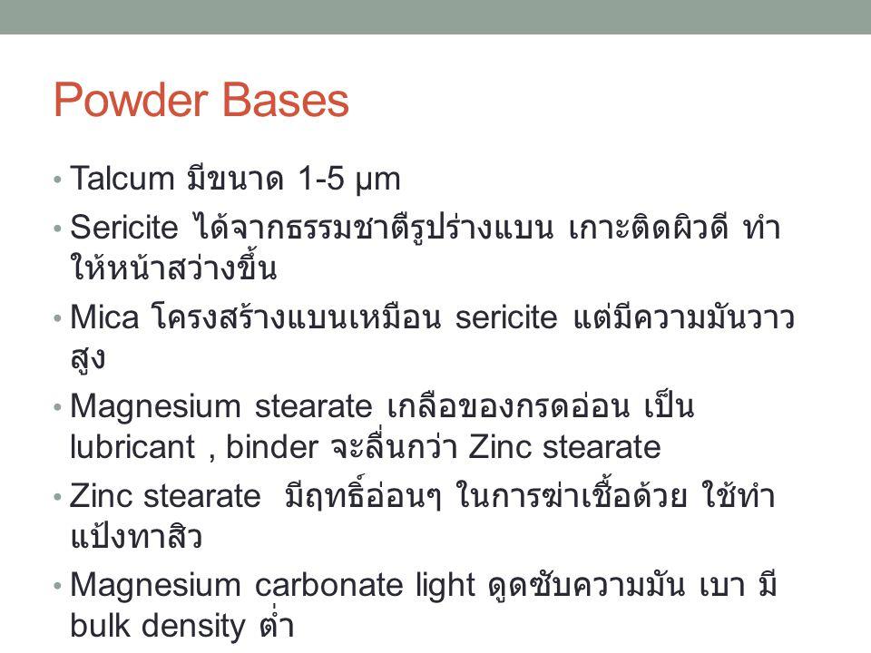 Powder Bases Talcum มีขนาด 1-5 μm