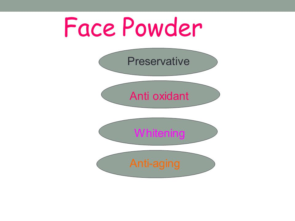 Face Powder Preservative Anti oxidant Whitening Anti-aging