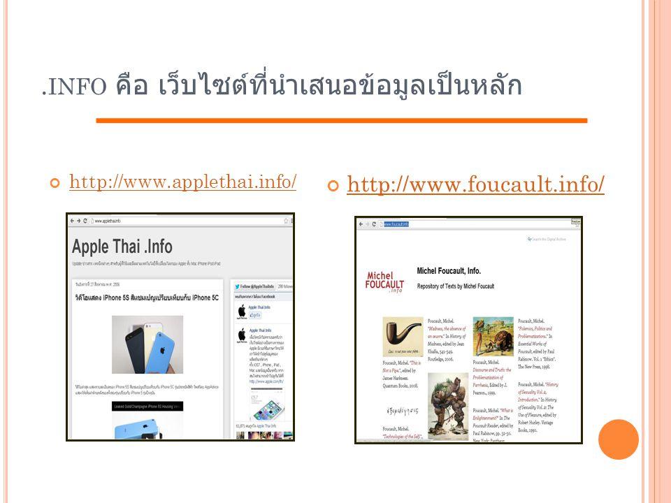 .info คือ เว็บไซต์ที่นำเสนอข้อมูลเป็นหลัก