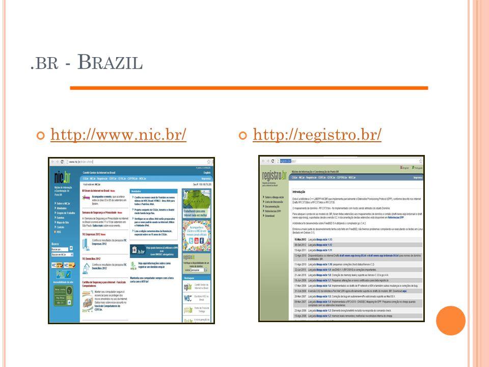 .br - Brazil http://www.nic.br/ http://registro.br/