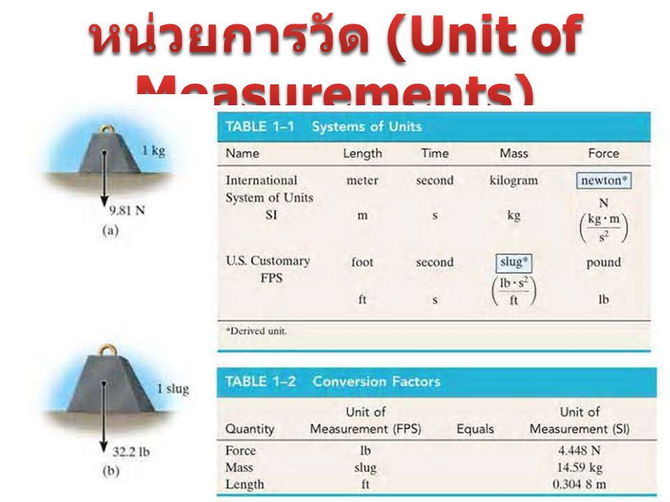 หน่วยการวัด (Unit of Measurements)