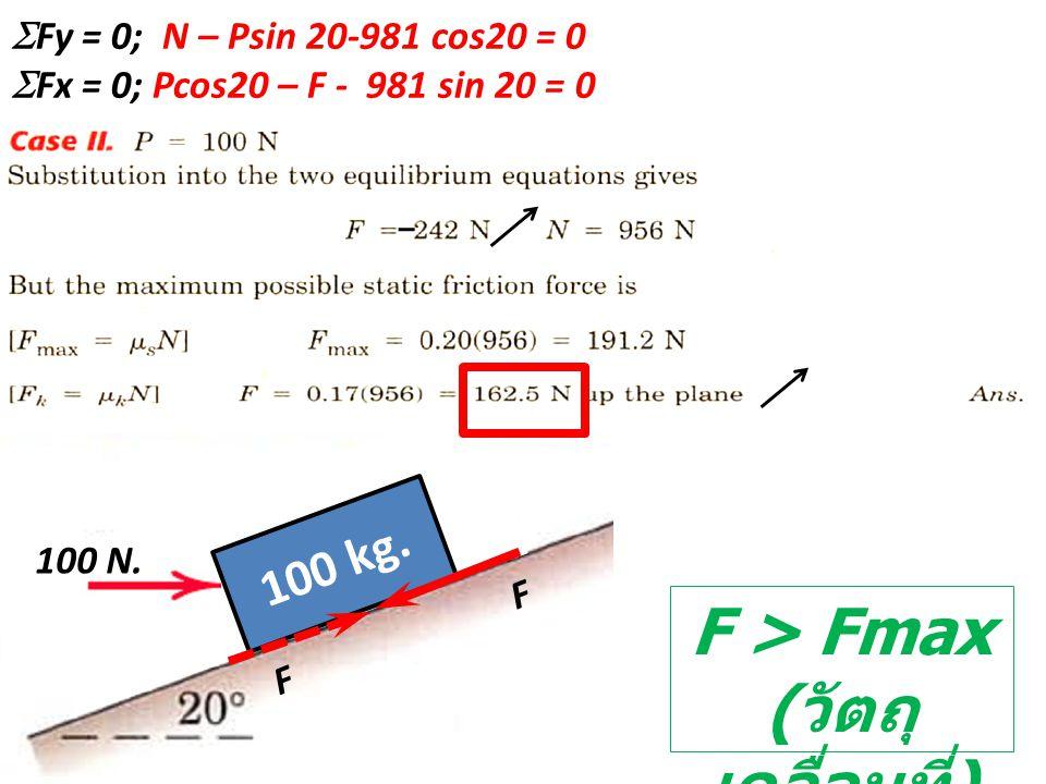 F > Fmax (วัตถุเคลื่อนที่)