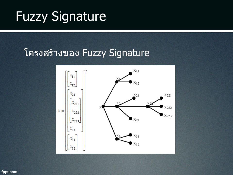 Fuzzy Signature โครงสร้างของ Fuzzy Signature