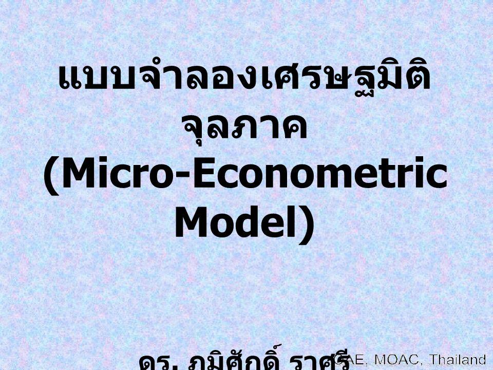 แบบจำลองเศรษฐมิติจุลภาค (Micro-Econometric Model)