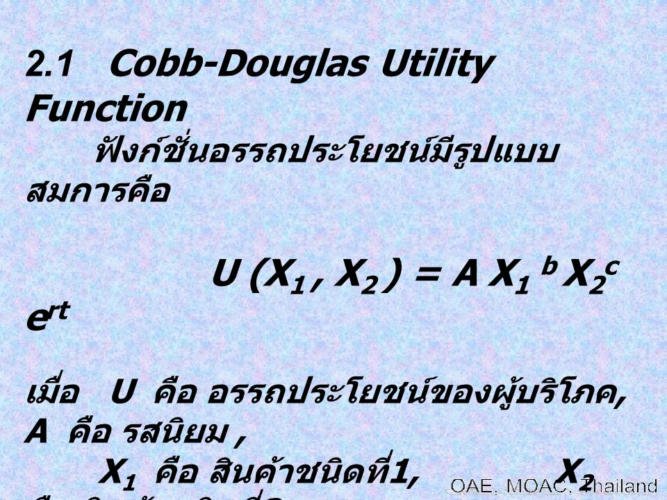 2.1 Cobb-Douglas Utility Function