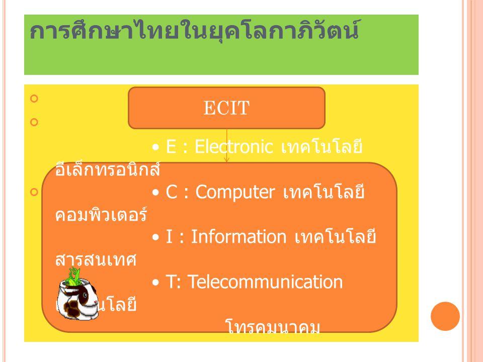 การศึกษาไทยในยุคโลกาภิวัตน์