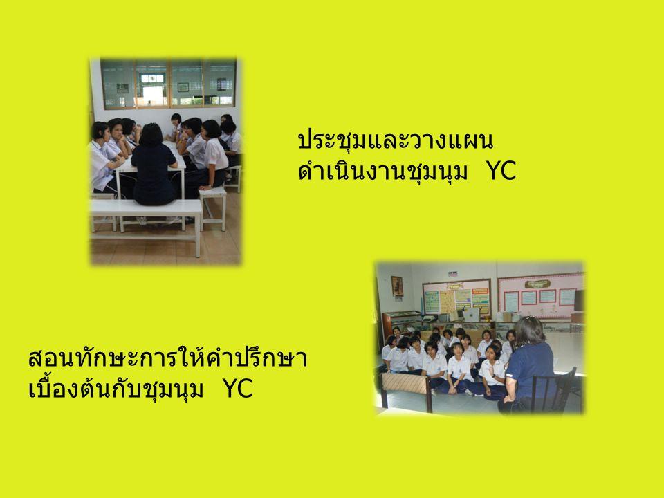 ประชุมและวางแผนดำเนินงานชุมนุม YC
