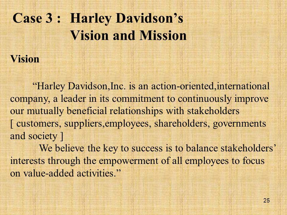 Case 3 : Harley Davidson's Vision and Mission