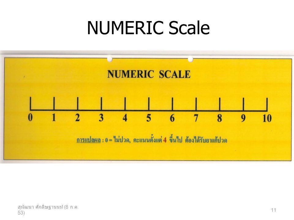 NUMERIC Scale สุพัฒนา ศักดิษฐานนท์ (8 ก.ค. 53)