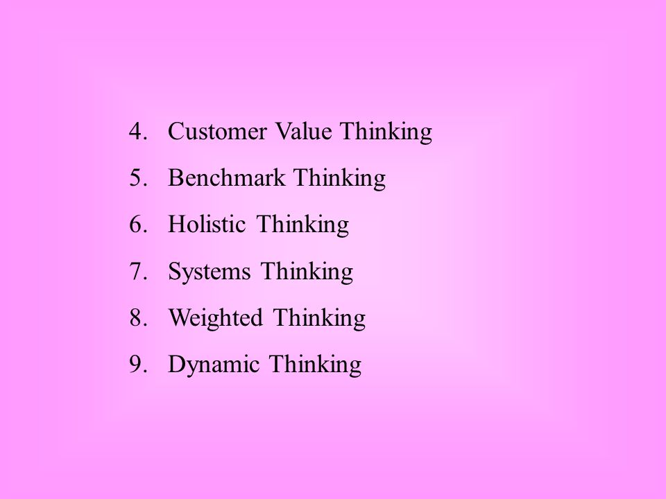 4. Customer Value Thinking