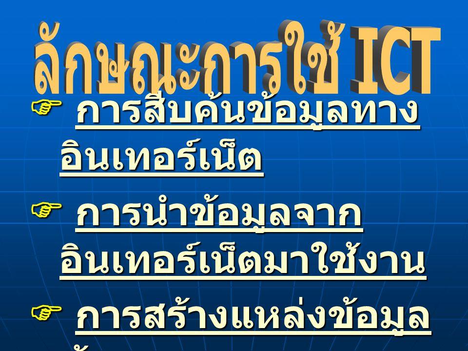 ลักษณะการใช้ ICT