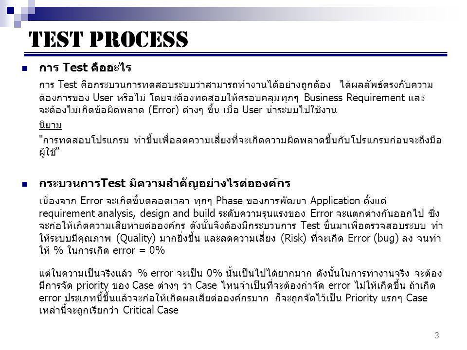 TEST PROCESS การ Test คืออะไร