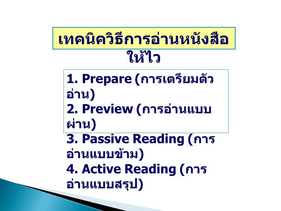 เทคนิควิธีการอ่านหนังสือให้ไว