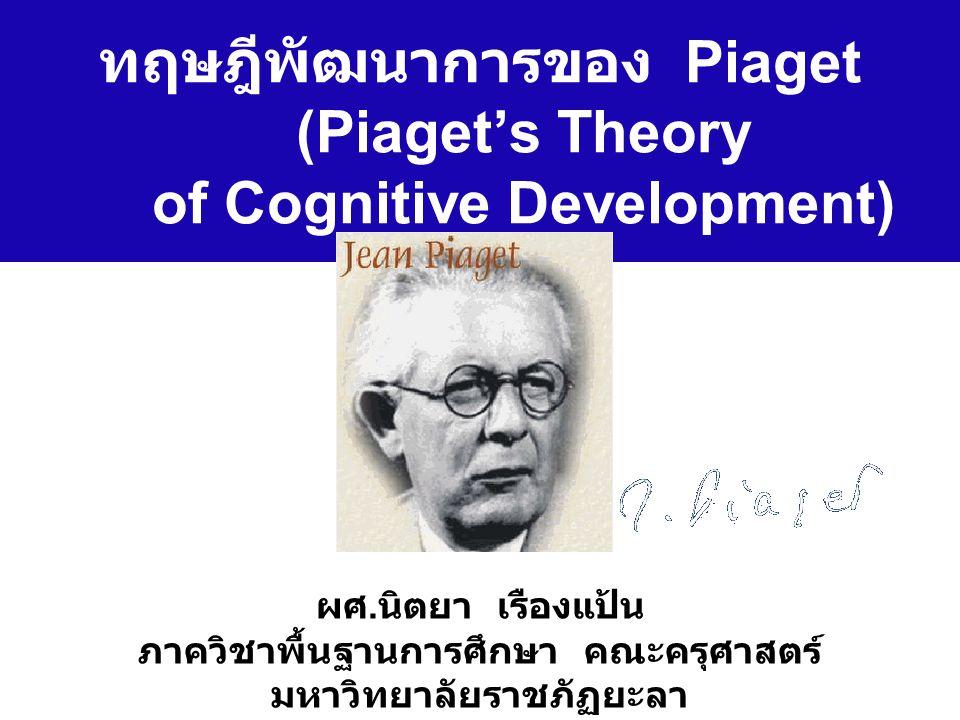 ทฤษฎีพัฒนาการของ Piaget (Piaget's Theory of Cognitive Development)