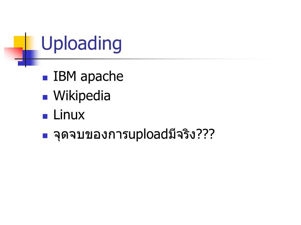 Uploading IBM apache Wikipedia Linux จุดจบของการuploadมีจริง