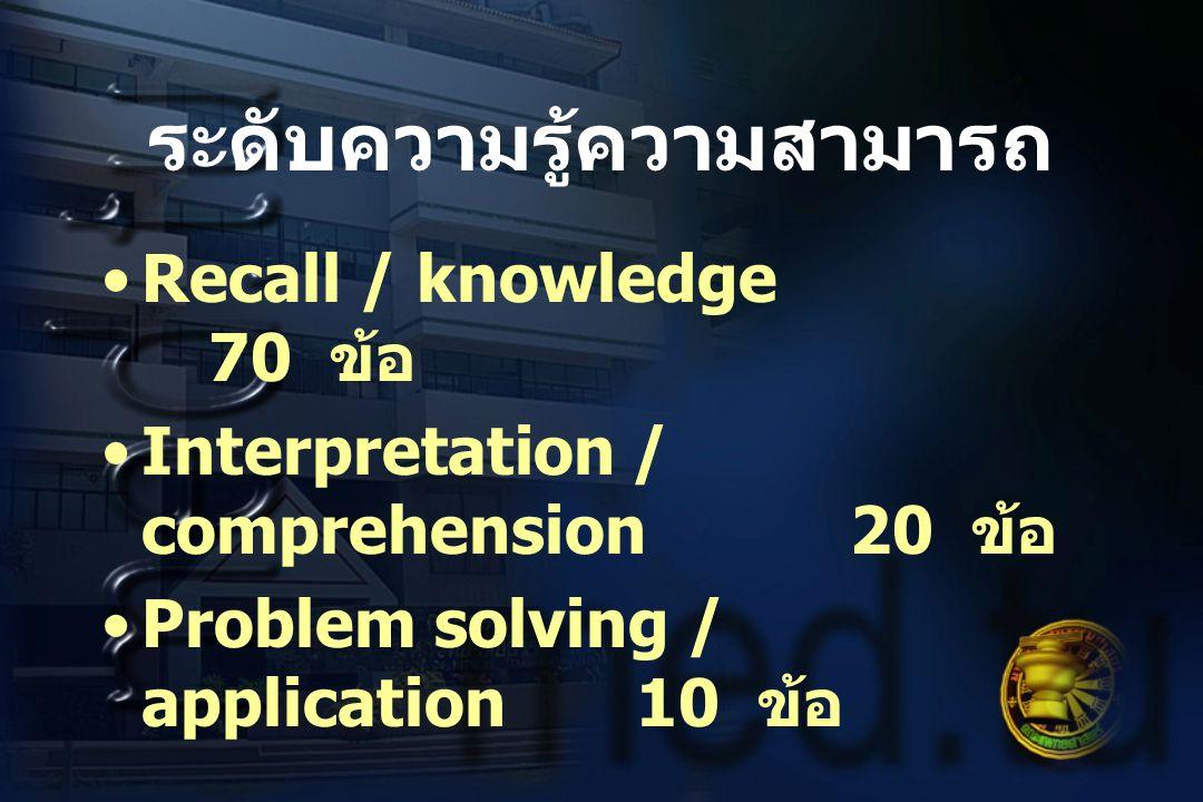 ระดับความรู้ความสามารถ