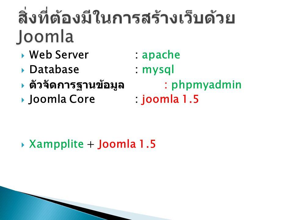สิ่งที่ต้องมีในการสร้างเว็บด้วย Joomla