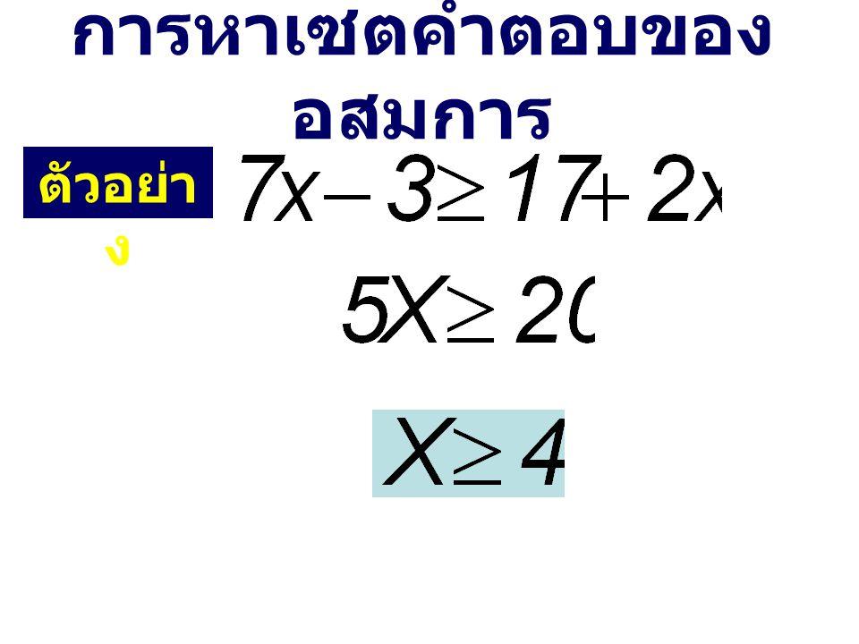 การหาเซตคำตอบของอสมการ
