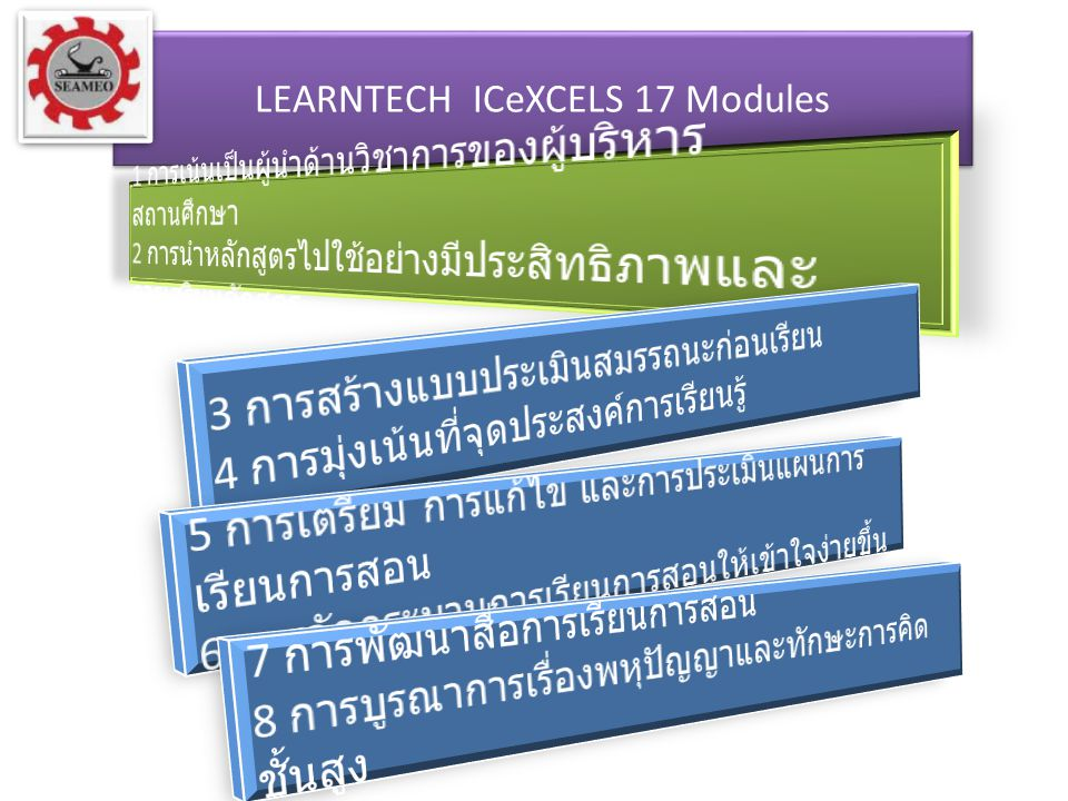 LEARNTECH ICeXCELS 17 Modules