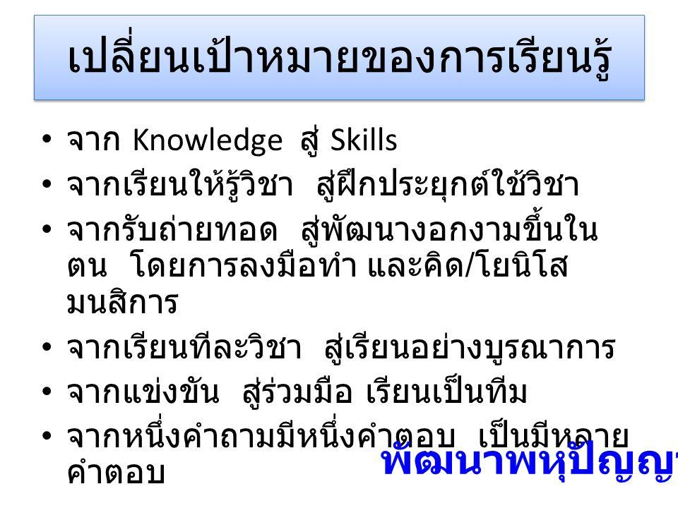 เปลี่ยนเป้าหมายของการเรียนรู้