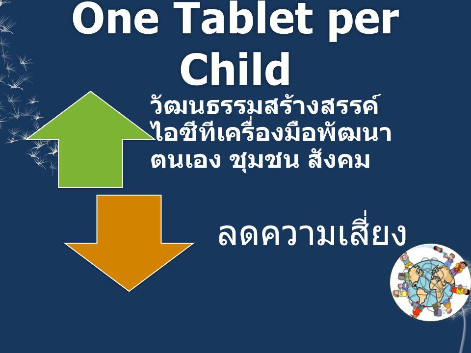 One Tablet per Child ลดความเสี่ยง