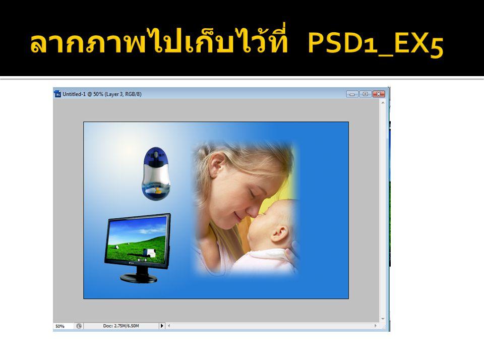 ลากภาพไปเก็บไว้ที่ PSD1_EX5