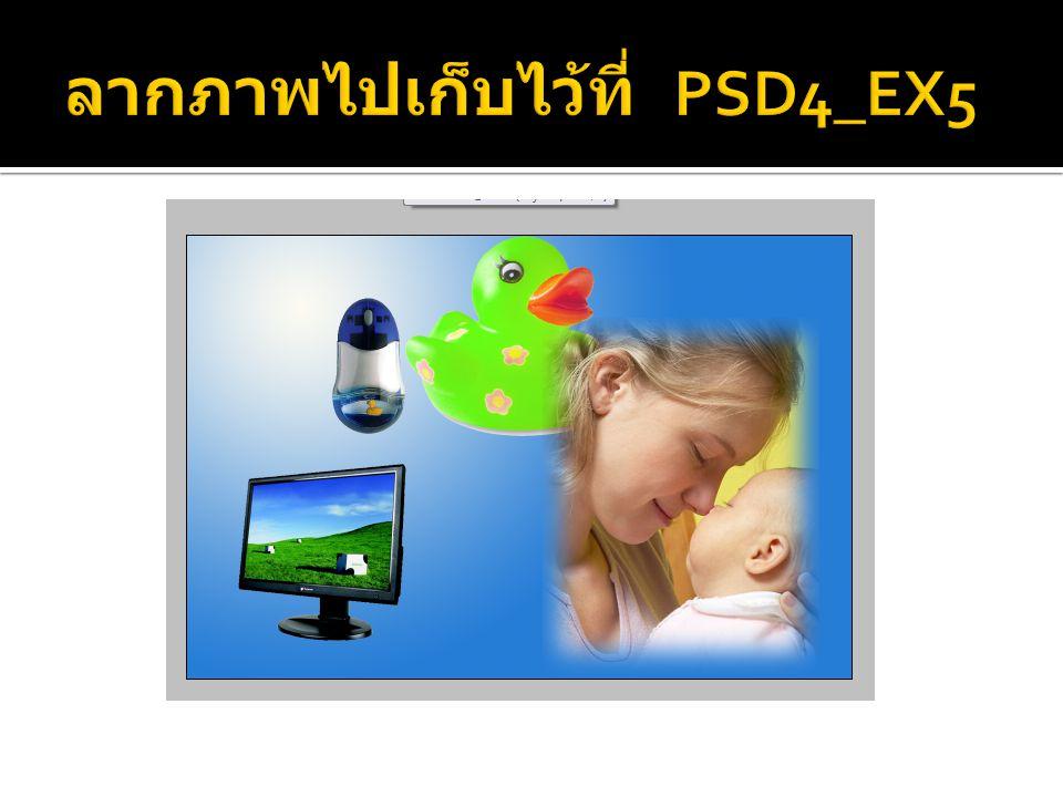 ลากภาพไปเก็บไว้ที่ PSD4_EX5
