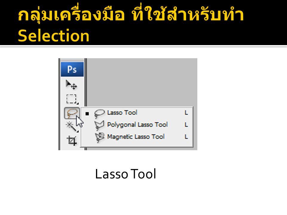 กลุ่มเครื่องมือ ที่ใช้สำหรับทำ Selection