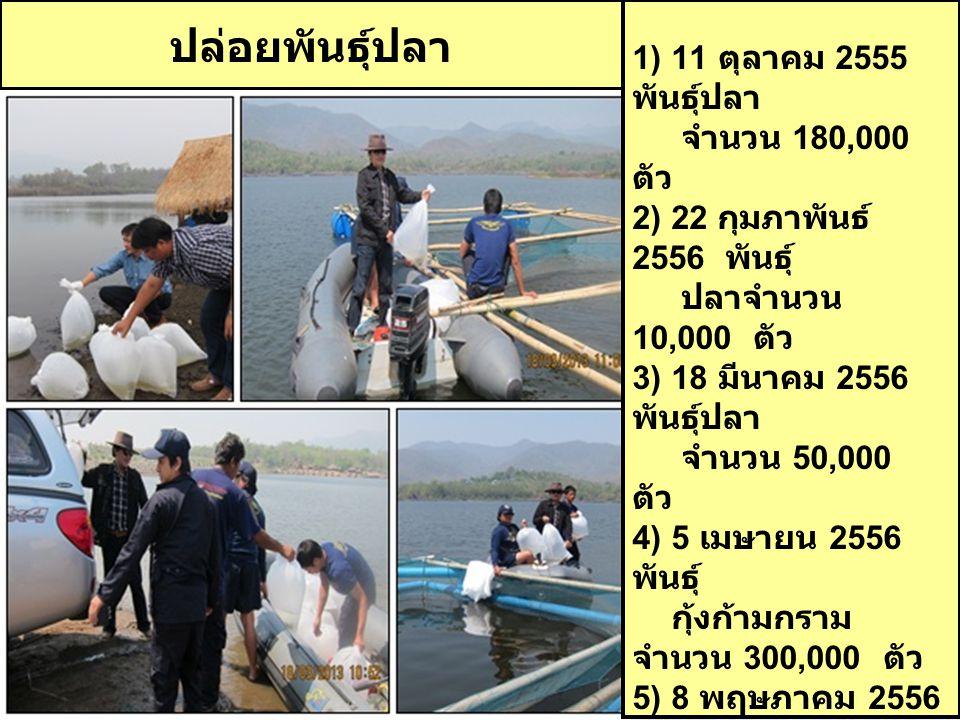 รวมจำนวนสัตว์น้ำทั้งสิ้น 650,000 ตัว