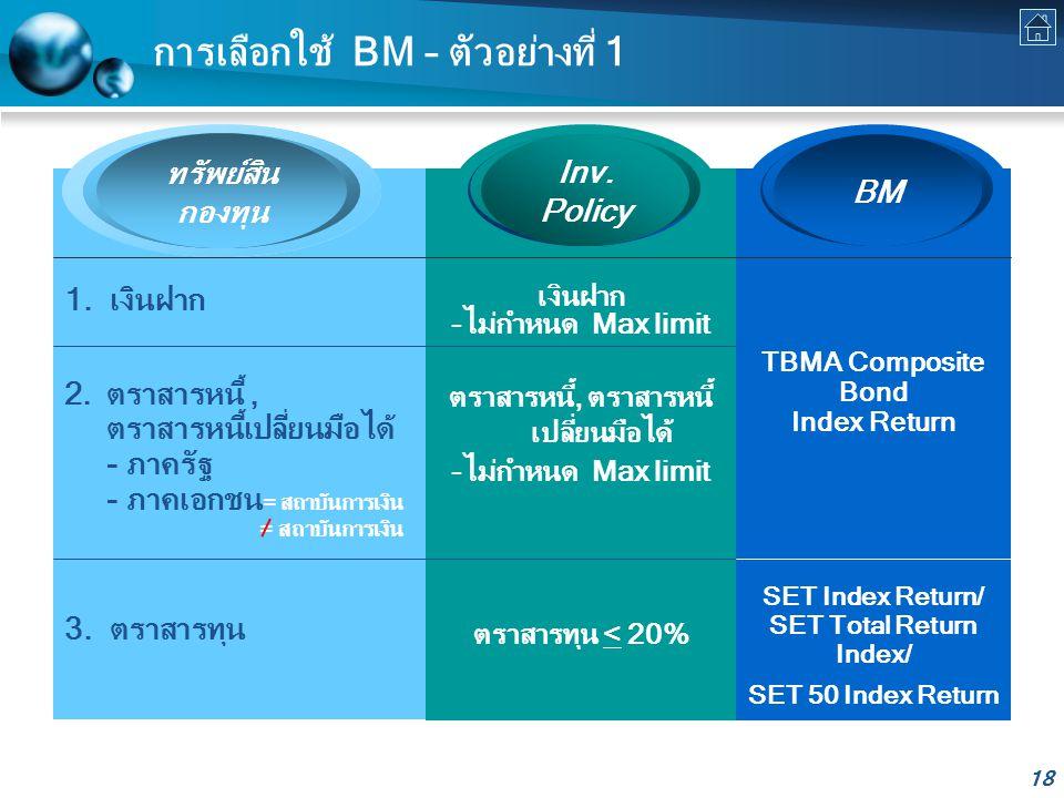 การเลือกใช้ BM – ตัวอย่างที่ 1