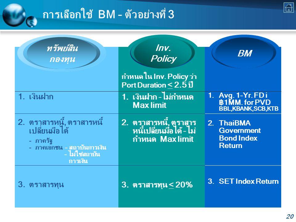 การเลือกใช้ BM – ตัวอย่างที่ 3