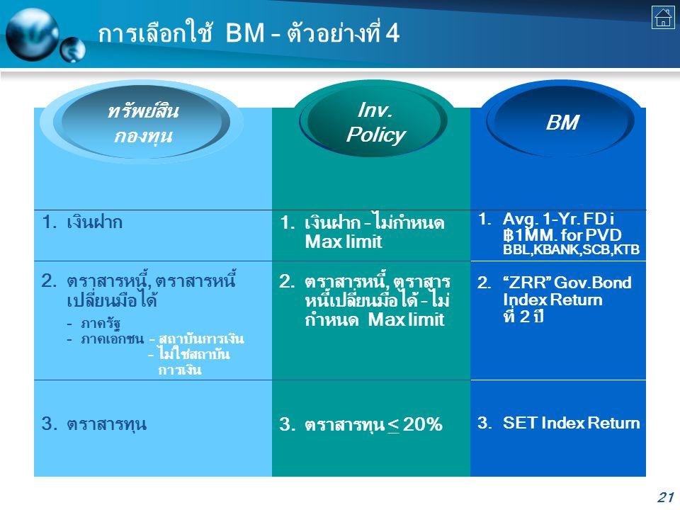 การเลือกใช้ BM – ตัวอย่างที่ 4