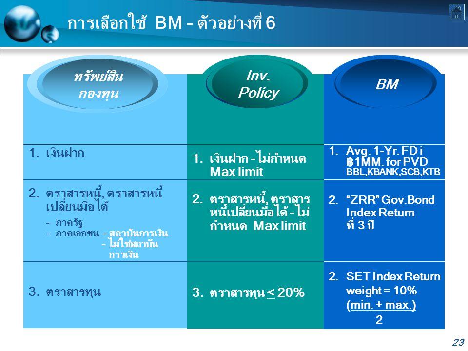 การเลือกใช้ BM – ตัวอย่างที่ 6