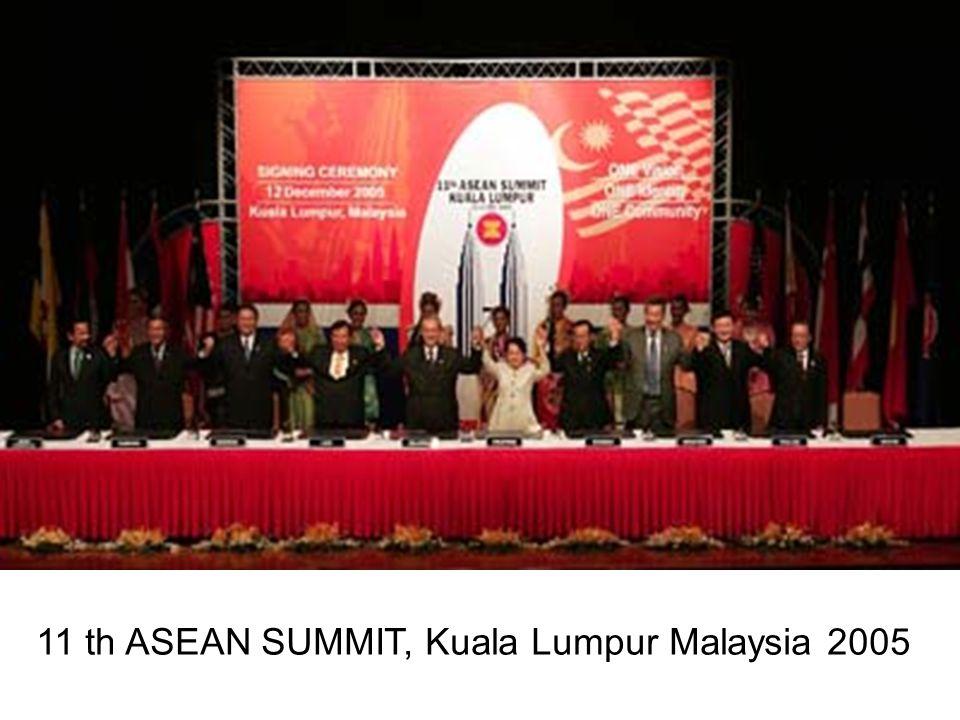 11 th ASEAN SUMMIT, Kuala Lumpur Malaysia 2005