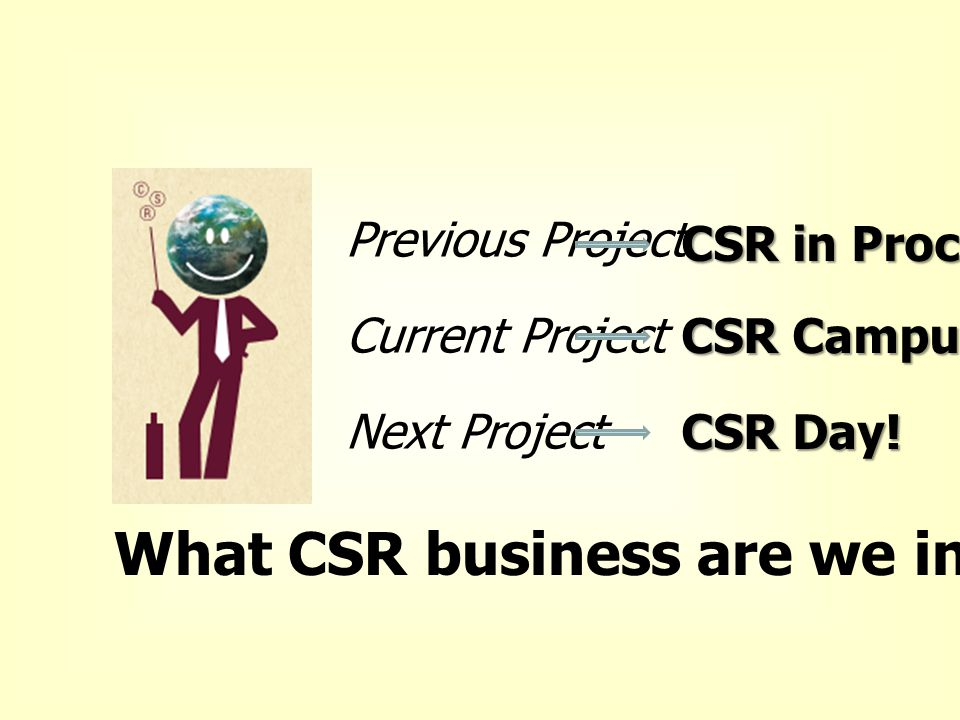 What CSR business are we in