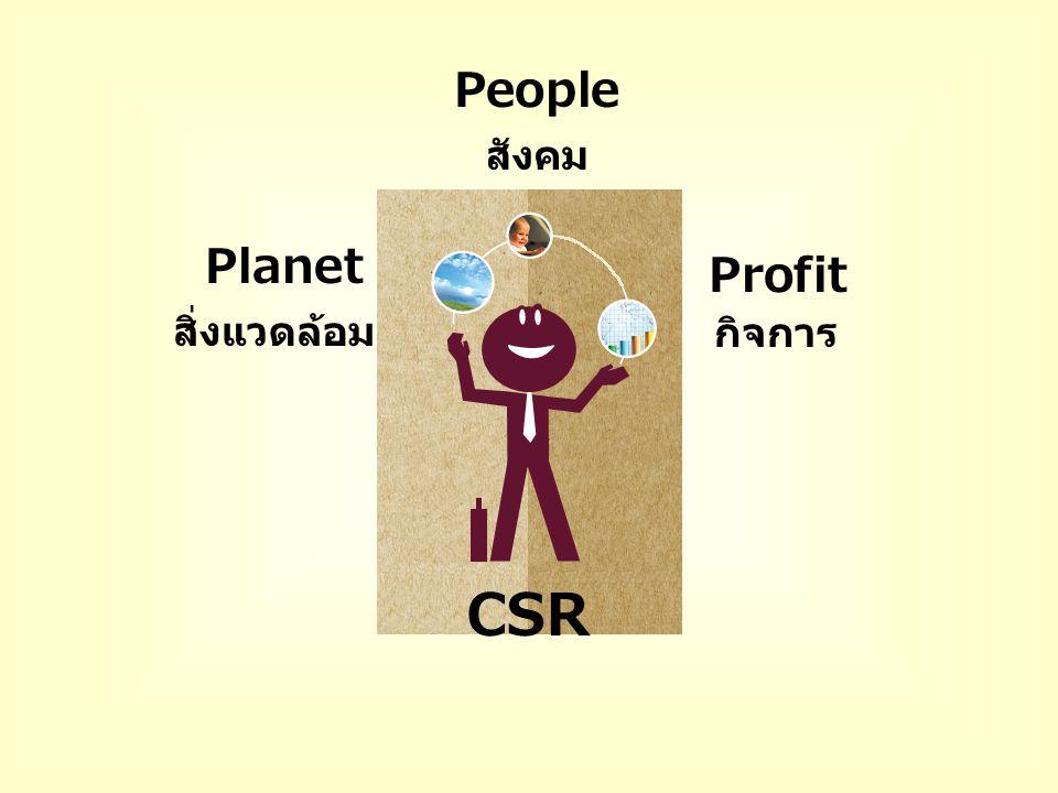 People สังคม Planet Profit สิ่งแวดล้อม กิจการ CSR