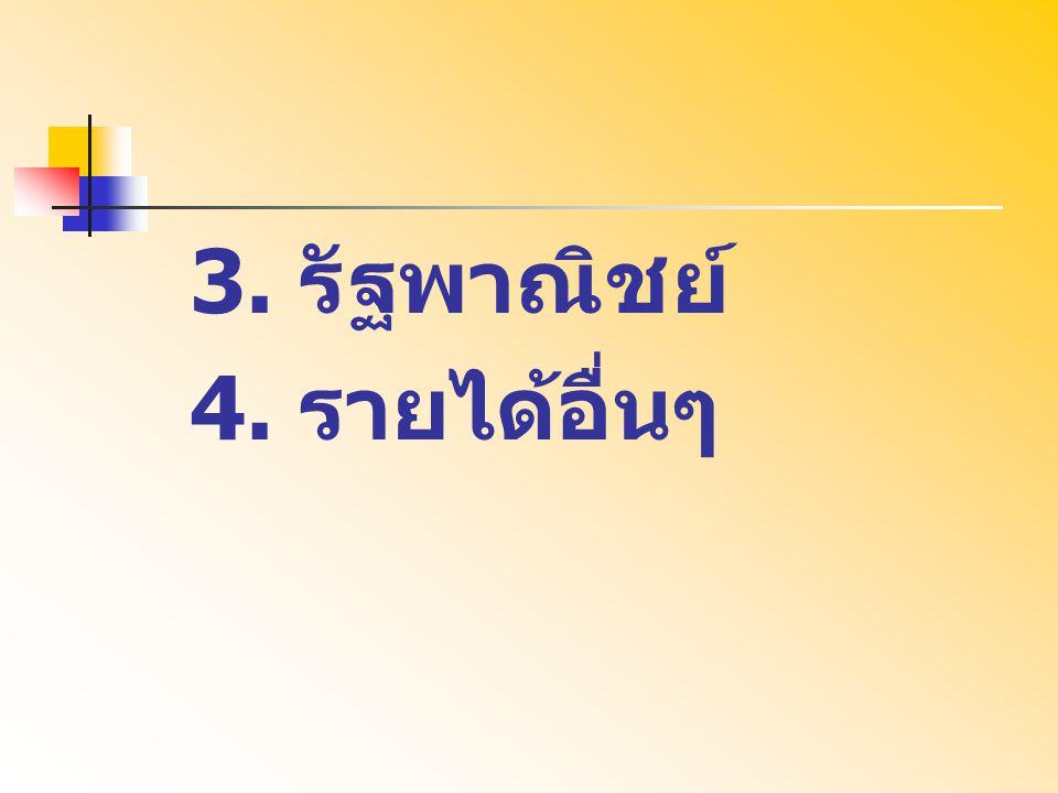 3. รัฐพาณิชย์ 4. รายได้อื่นๆ