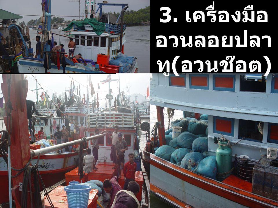 3. เครื่องมืออวนลอยปลาทู(อวนช๊อต)