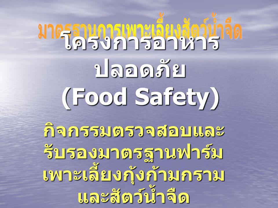 โครงการอาหารปลอดภัย (Food Safety)