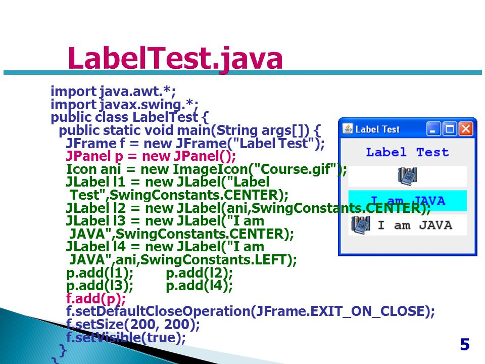 LabelTest.java