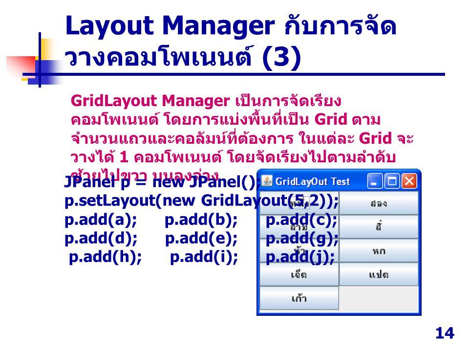 Layout Manager กับการจัดวางคอมโพเนนต์ (3)
