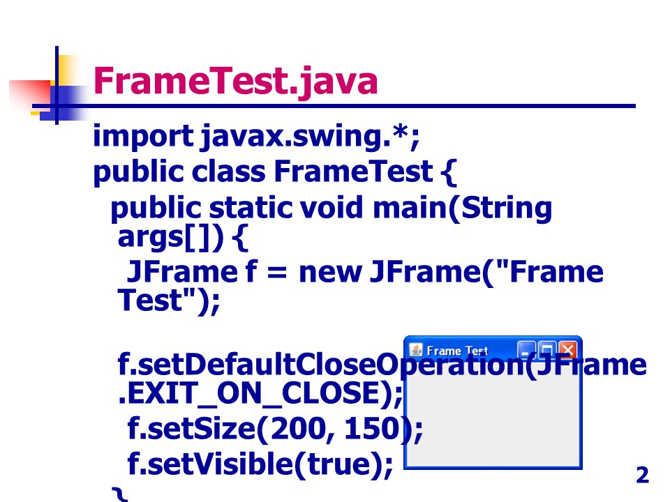 FrameTest.java