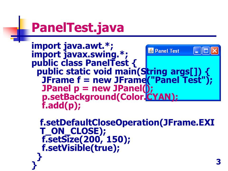 PanelTest.java
