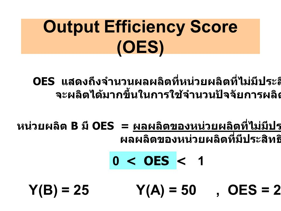 Output Efficiency Score (OES)